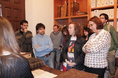 Visita al Archivo Musical de la Catedral de Salamanca. Abril, 2011